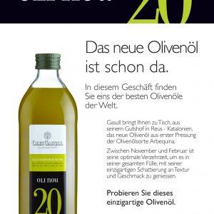 Oli Nou 20 Olivenöl der Neuen Ernte 2020 Spanien